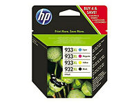 HP932XL and HP933XL genuine toner cartridges (4), partially used
