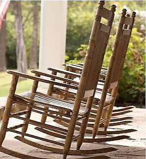 Rocking Chairs - as new - hardwood, with cushions