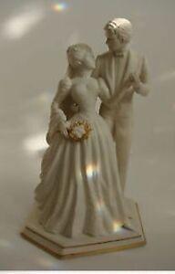 """Franklin Mint Bride and Groom Porcelain Figurine 12"""""""
