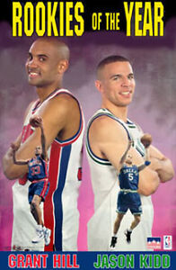 1995 Jason Kidd & Grant Hill Rookies of the Year Original Starline Poster OOP