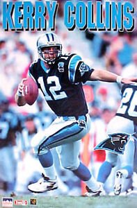 1995 Kerry Collins Carolina Panthers Original Starline Poster OOP