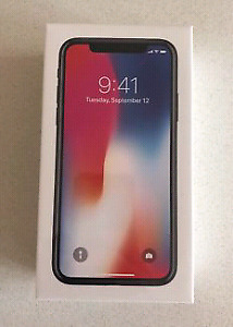 IPhone X Brand New in Box Sealed One year warranty