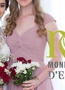 Beautiful floor length bridesmaids dress