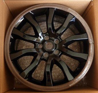 """Range Rover Sport 2014+ OEM 20"""" Style 5 Split Spoke Gloss Black 18 Wheel Set 4"""