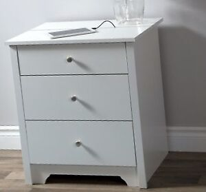 Nightstand with Charging Station and Drawers