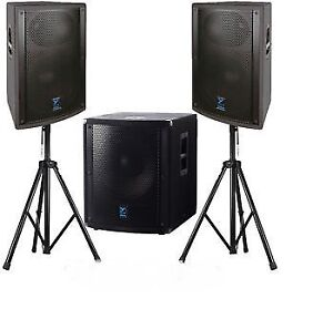 Complete PA DJ Package with Laptop and Active speakers,Sub, MORE
