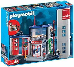 Playmobil Fire Station - 4819 + Fire Trucks & Boat