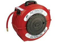 TRACTA Water Hose Reel – 12.5mm x 12m FOR GARAGE USE CAR WASH Garden Hose pipe.