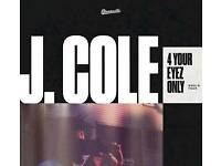 2 tickets for J Cole Concert @ the 02