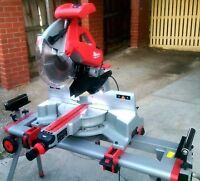 Milwaukee Double Bevel Sliding Compound Mitre Saw with Stand