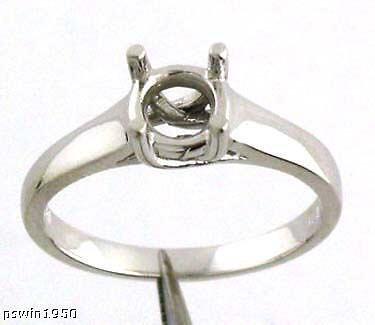 (1.5CT SOLITAIRE RING MOUNTING FOR ROUND 14K WHITE GOLD FOR 7.5MM ROUND DIAMOND)