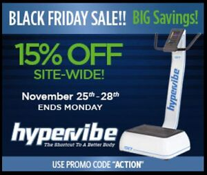 Save this Weekend on a Hypervibe Premium Vibration Machine
