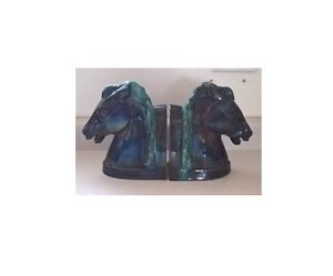 Blue Mountain Pottery Horse Head Bookends
