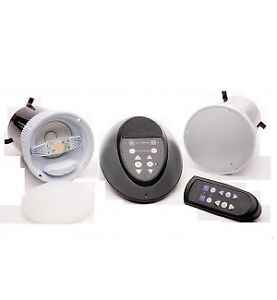In ceiling wireless speaker with LED light and remote+free sub