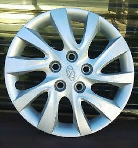 SET: 4 ENJOLIVEURS HYUNDAI D'ORIGINE OEM! ORIGINAL WHEEL COVERS!