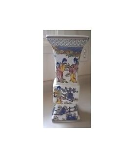 Bombay Porcelain Hand Painted Floor Candle Holder / Stand