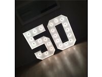 Light up numbers sale