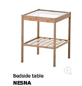 Ikea nesna bedside table, nightstands, unopened boxes