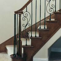 OAK MAPLE STEPS TREADS SPINDLES IRON RODS POSTS STAIR CAPS VENTS
