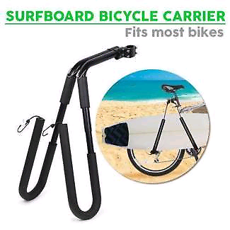 Surfboard bicycle rack