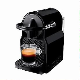 Brand new and unused black Nespresso Inissia Coffee Machine by Magimix