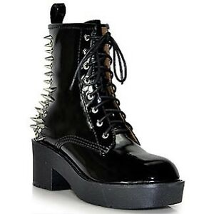 8th ST Black Patent Leather Spiked Boot Jeffrey Campbell