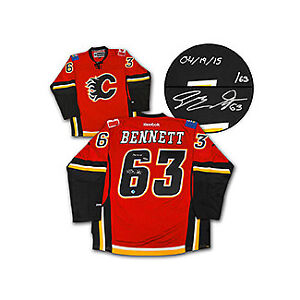 NEW Calgary Flame Sam Bennet Signed Jersey First Goal + COA