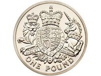 one pound coins before new release