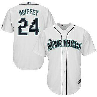 Seattle Mariners Baseball (Ken Griffey Jr #24 Seattle Mariners White Classic Baseball)