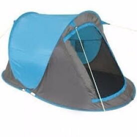 YELLOWSTONE FAST PITCH 2 PERSON TENT. GREAT FESTIVAL TENT AND FOR BANK HOLIDAY CAMPING