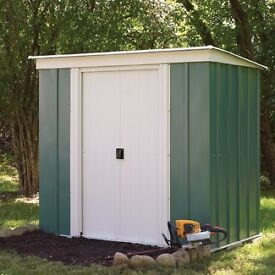 Rowlinson 6 x 4 Pent Metal Shed.
