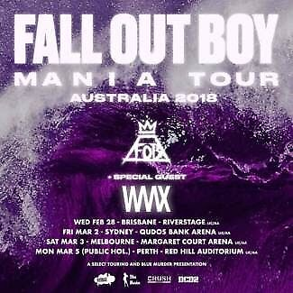 2 x Fall Out Boy, Sydney Tickets (SOLD OUT STANDING)