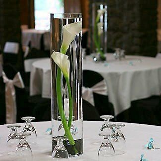 60cm Glass Cylinder Vase for wedding table decorations or corporate events