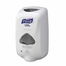 PURELL ADVANCED sanitizing gel in a case of 2 x 1200 ml in the PURELL LTX-12 dispenser ( included )