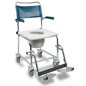 BRAND NEW WHEELCHAIR SHOWER WHEEL COMMODE PORTABLE POTTY