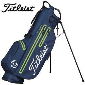 Titleist 4up (Ultra Lightweight) Golf Bag - Navy and Green Trim - Brand New with Tags
