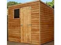 8X6 Lapboard Shed/Pent ..new !