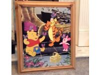 Winnie The Pooh Mirror Picture Frame