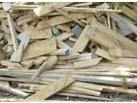 Free mixed firewood for collection or £20 per van load delivered