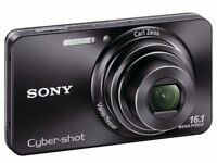 Sony DSCW570 Cyber-shot Digital Still Camera - Black (16.1MP, 5x Optical Zoom) 2.7 inch LCD