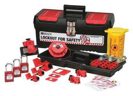 BRADY 105961 Portable Lockout Kit,Black,Electrical,18