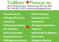 TAX & ACCOUNTING & PAYROLL & BUSINESS REGISTRATION & INCOR & HST