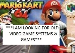 I BUY AND COLLECT OLD VIDEO GAMES AND SYSTEMS
