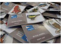 Volunteer Pin badge Fundraiser RSPB