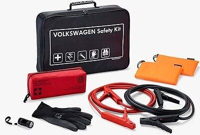 GENUINE VW BREAKDOWN ASSISTANCE SAFETY KIT – FIRST AID KIT/JUMP LEADS/VEST/TORCH