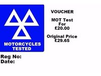 Motorcycle Motorbikes Scooters MOT Testing station Test from £20.00 West London w10 w11 w12 w8 w9