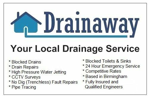 Drainaway -Your Local Drainage Service -Birmingham-Blocked Drains, CCTV, High Pressure Water Jetting