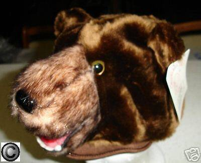 BROWN BEAR HAT Fast US SHIP halloween costume ADULT SIZE plush mens womens bears - Mens Bear Halloween Costume