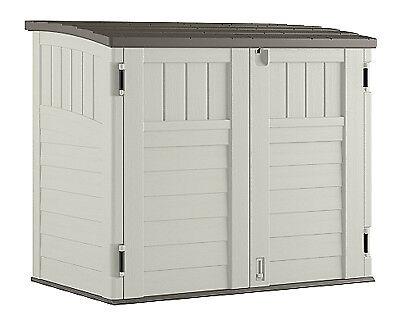 Horizontal Shed - SUNCAST CORP Storage Shed, Horizontal, Double-Wall Resin, 34-Cu. Ft. BMS2500