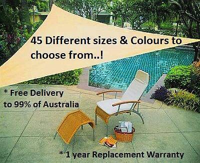NEW 45 x Different Sizes & Colours of UV Block Shade Sail Range Success Cockburn Area Preview